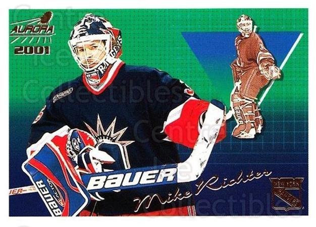2000-01 Aurora #98 Mike Richter<br/>4 In Stock - $1.00 each - <a href=https://centericecollectibles.foxycart.com/cart?name=2000-01%20Aurora%20%2398%20Mike%20Richter...&quantity_max=4&price=$1.00&code=83295 class=foxycart> Buy it now! </a>