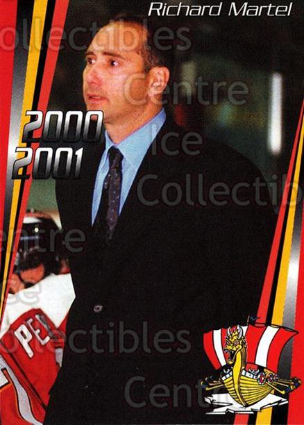 2000-01 Baie Comeau Drakkar #25 Richard Martel<br/>7 In Stock - $3.00 each - <a href=https://centericecollectibles.foxycart.com/cart?name=2000-01%20Baie%20Comeau%20Drakkar%20%2325%20Richard%20Martel...&quantity_max=7&price=$3.00&code=83339 class=foxycart> Buy it now! </a>