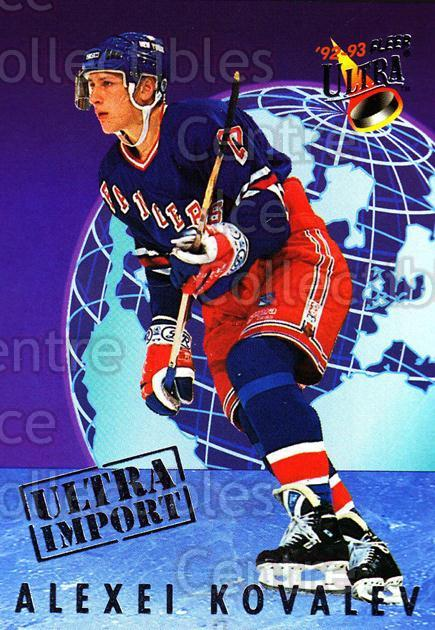 1992-93 Ultra Import #10 Alexei Kovalev<br/>12 In Stock - $2.00 each - <a href=https://centericecollectibles.foxycart.com/cart?name=1992-93%20Ultra%20Import%20%2310%20Alexei%20Kovalev...&quantity_max=12&price=$2.00&code=8363 class=foxycart> Buy it now! </a>