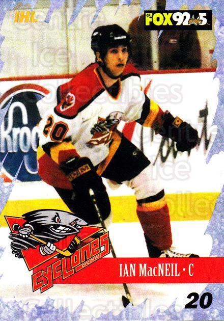 2000-01 Cincinnati Cyclones #10 Ian MacNeil<br/>2 In Stock - $3.00 each - <a href=https://centericecollectibles.foxycart.com/cart?name=2000-01%20Cincinnati%20Cyclones%20%2310%20Ian%20MacNeil...&quantity_max=2&price=$3.00&code=84390 class=foxycart> Buy it now! </a>