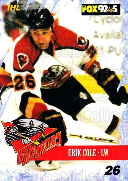 2000-01 Cincinnati Cyclones #12 Erik Cole<br/>1 In Stock - $3.00 each - <a href=https://centericecollectibles.foxycart.com/cart?name=2000-01%20Cincinnati%20Cyclones%20%2312%20Erik%20Cole...&quantity_max=1&price=$3.00&code=84392 class=foxycart> Buy it now! </a>