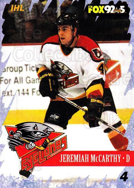 2000-01 Cincinnati Cyclones #2 Jeremiah McCarthy<br/>4 In Stock - $3.00 each - <a href=https://centericecollectibles.foxycart.com/cart?name=2000-01%20Cincinnati%20Cyclones%20%232%20Jeremiah%20McCart...&quantity_max=4&price=$3.00&code=84399 class=foxycart> Buy it now! </a>