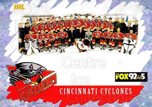 2000-01 Cincinnati Cyclones #28 Cincinnati Cyclones, Team Photo<br/>3 In Stock - $2.00 each - <a href=https://centericecollectibles.foxycart.com/cart?name=2000-01%20Cincinnati%20Cyclones%20%2328%20Cincinnati%20Cycl...&price=$2.00&code=84407 class=foxycart> Buy it now! </a>