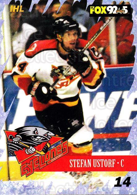 2000-01 Cincinnati Cyclones #7 Stefan Ustorf<br/>2 In Stock - $3.00 each - <a href=https://centericecollectibles.foxycart.com/cart?name=2000-01%20Cincinnati%20Cyclones%20%237%20Stefan%20Ustorf...&quantity_max=2&price=$3.00&code=84414 class=foxycart> Buy it now! </a>