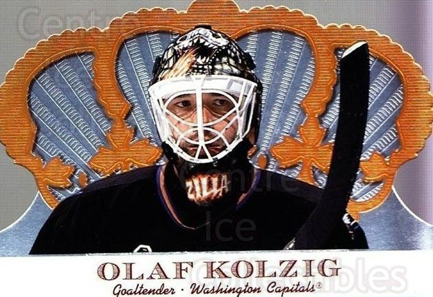 2000-01 Crown Royale #107 Olaf Kolzig<br/>6 In Stock - $1.00 each - <a href=https://centericecollectibles.foxycart.com/cart?name=2000-01%20Crown%20Royale%20%23107%20Olaf%20Kolzig...&quantity_max=6&price=$1.00&code=84616 class=foxycart> Buy it now! </a>