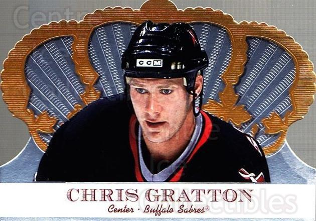 2000-01 Crown Royale #14 Chris Gratton<br/>6 In Stock - $1.00 each - <a href=https://centericecollectibles.foxycart.com/cart?name=2000-01%20Crown%20Royale%20%2314%20Chris%20Gratton...&quantity_max=6&price=$1.00&code=84646 class=foxycart> Buy it now! </a>