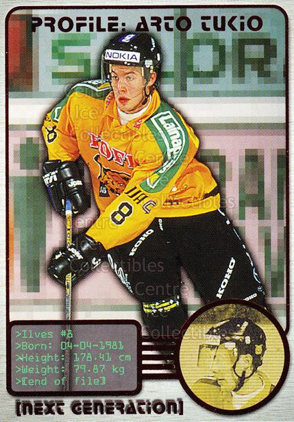 2000-01 Finnish Cardset Next Generation #6 Arto Tukio<br/>6 In Stock - $3.00 each - <a href=https://centericecollectibles.foxycart.com/cart?name=2000-01%20Finnish%20Cardset%20Next%20Generation%20%236%20Arto%20Tukio...&quantity_max=6&price=$3.00&code=85124 class=foxycart> Buy it now! </a>