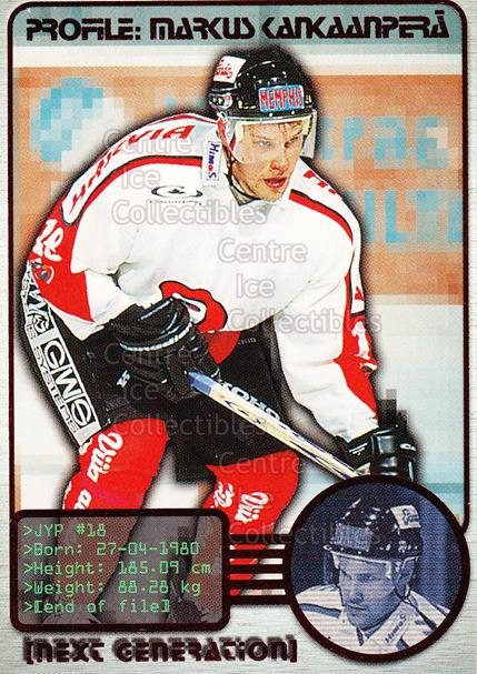 2000-01 Finnish Cardset Next Generation #8 Markus Kankaanpera<br/>6 In Stock - $3.00 each - <a href=https://centericecollectibles.foxycart.com/cart?name=2000-01%20Finnish%20Cardset%20Next%20Generation%20%238%20Markus%20Kankaanp...&price=$3.00&code=85126 class=foxycart> Buy it now! </a>