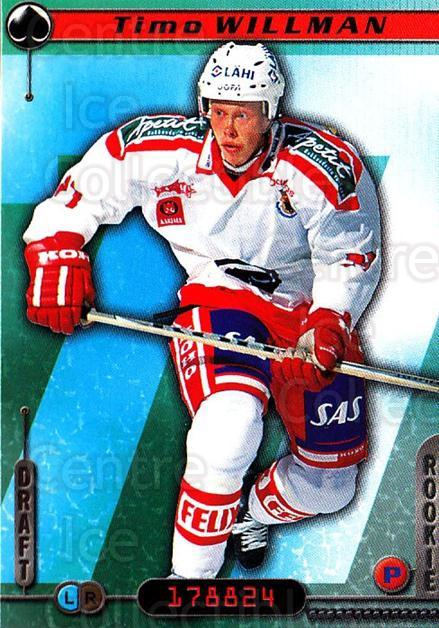 2000-01 Finnish Cardset #104 Timo Willman<br/>7 In Stock - $2.00 each - <a href=https://centericecollectibles.foxycart.com/cart?name=2000-01%20Finnish%20Cardset%20%23104%20Timo%20Willman...&price=$2.00&code=85133 class=foxycart> Buy it now! </a>
