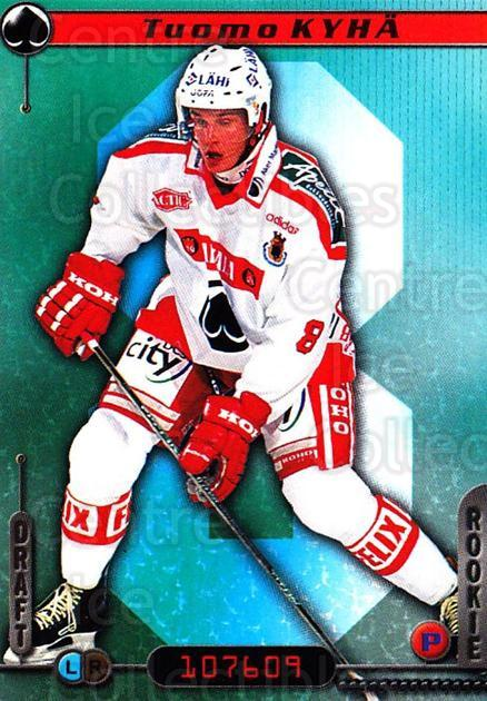 2000-01 Finnish Cardset #106 Tuomo Kyha<br/>7 In Stock - $2.00 each - <a href=https://centericecollectibles.foxycart.com/cart?name=2000-01%20Finnish%20Cardset%20%23106%20Tuomo%20Kyha...&price=$2.00&code=85135 class=foxycart> Buy it now! </a>