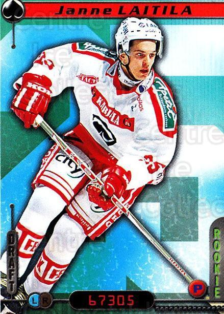 2000-01 Finnish Cardset #107 Janne Laitila<br/>7 In Stock - $2.00 each - <a href=https://centericecollectibles.foxycart.com/cart?name=2000-01%20Finnish%20Cardset%20%23107%20Janne%20Laitila...&price=$2.00&code=85136 class=foxycart> Buy it now! </a>