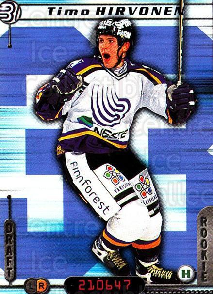 2000-01 Finnish Cardset #11 Timo Hirvonen<br/>7 In Stock - $2.00 each - <a href=https://centericecollectibles.foxycart.com/cart?name=2000-01%20Finnish%20Cardset%20%2311%20Timo%20Hirvonen...&quantity_max=7&price=$2.00&code=85139 class=foxycart> Buy it now! </a>