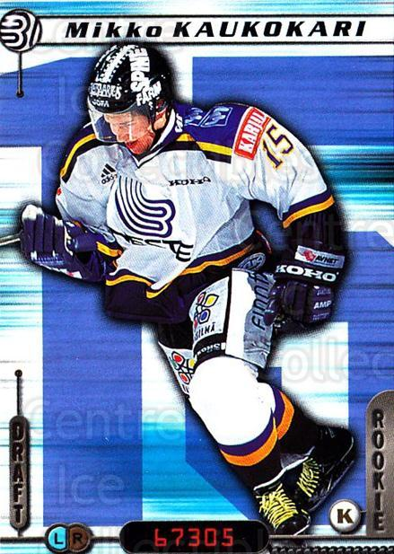 2000-01 Finnish Cardset #12 Mikko Kaukokari<br/>7 In Stock - $2.00 each - <a href=https://centericecollectibles.foxycart.com/cart?name=2000-01%20Finnish%20Cardset%20%2312%20Mikko%20Kaukokari...&quantity_max=7&price=$2.00&code=85148 class=foxycart> Buy it now! </a>