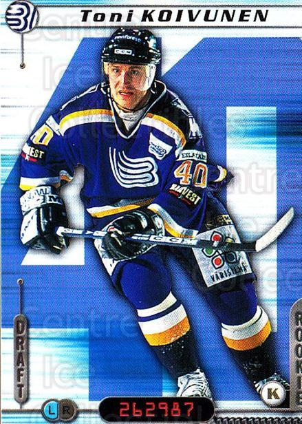 2000-01 Finnish Cardset #127 Toni Koivunen<br/>6 In Stock - $2.00 each - <a href=https://centericecollectibles.foxycart.com/cart?name=2000-01%20Finnish%20Cardset%20%23127%20Toni%20Koivunen...&quantity_max=6&price=$2.00&code=85156 class=foxycart> Buy it now! </a>