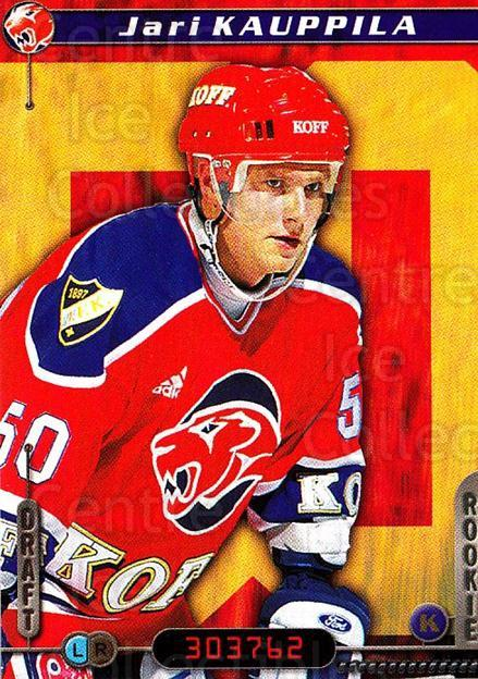 2000-01 Finnish Cardset #137 Jari Kauppila<br/>7 In Stock - $2.00 each - <a href=https://centericecollectibles.foxycart.com/cart?name=2000-01%20Finnish%20Cardset%20%23137%20Jari%20Kauppila...&quantity_max=7&price=$2.00&code=85167 class=foxycart> Buy it now! </a>