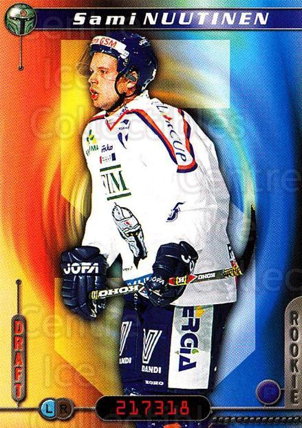 2000-01 Finnish Cardset #142 Sami Nuutinen<br/>5 In Stock - $2.00 each - <a href=https://centericecollectibles.foxycart.com/cart?name=2000-01%20Finnish%20Cardset%20%23142%20Sami%20Nuutinen...&quantity_max=5&price=$2.00&code=85172 class=foxycart> Buy it now! </a>