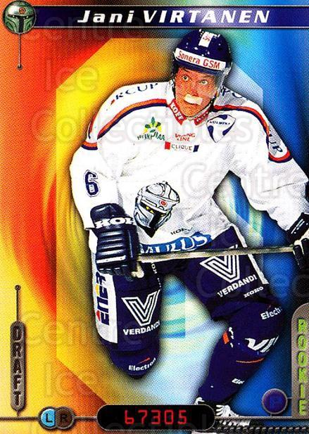 2000-01 Finnish Cardset #143 Jani Virtanen<br/>4 In Stock - $2.00 each - <a href=https://centericecollectibles.foxycart.com/cart?name=2000-01%20Finnish%20Cardset%20%23143%20Jani%20Virtanen...&quantity_max=4&price=$2.00&code=85173 class=foxycart> Buy it now! </a>