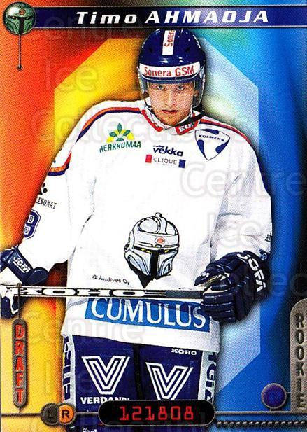 2000-01 Finnish Cardset #144 Timo Ahmaoja<br/>6 In Stock - $2.00 each - <a href=https://centericecollectibles.foxycart.com/cart?name=2000-01%20Finnish%20Cardset%20%23144%20Timo%20Ahmaoja...&quantity_max=6&price=$2.00&code=85174 class=foxycart> Buy it now! </a>