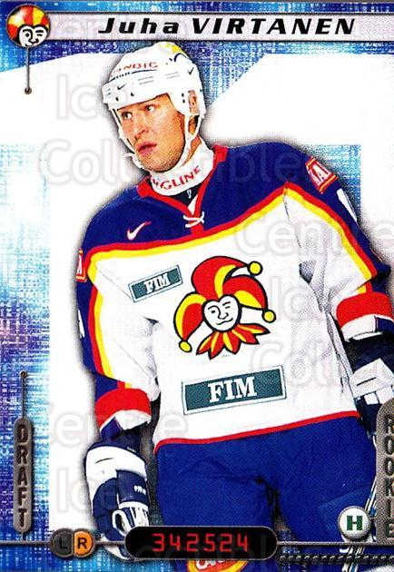 2000-01 Finnish Cardset #164 Juha Virtanen<br/>6 In Stock - $2.00 each - <a href=https://centericecollectibles.foxycart.com/cart?name=2000-01%20Finnish%20Cardset%20%23164%20Juha%20Virtanen...&price=$2.00&code=85195 class=foxycart> Buy it now! </a>