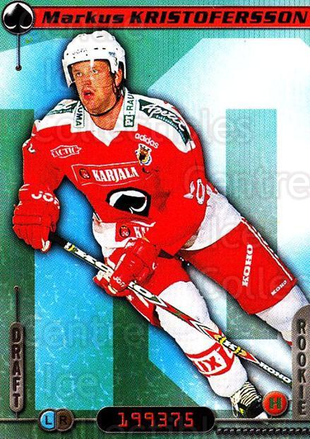2000-01 Finnish Cardset #225 Marcus Kristoffersson<br/>1 In Stock - $2.00 each - <a href=https://centericecollectibles.foxycart.com/cart?name=2000-01%20Finnish%20Cardset%20%23225%20Marcus%20Kristoff...&price=$2.00&code=85256 class=foxycart> Buy it now! </a>