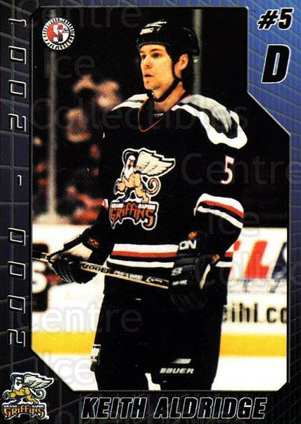 2000-01 Grand Rapids Griffins #1 Keith Aldridge<br/>5 In Stock - $3.00 each - <a href=https://centericecollectibles.foxycart.com/cart?name=2000-01%20Grand%20Rapids%20Griffins%20%231%20Keith%20Aldridge...&price=$3.00&code=85440 class=foxycart> Buy it now! </a>