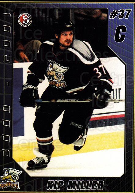 2000-01 Grand Rapids Griffins #14 Kip Miller<br/>5 In Stock - $3.00 each - <a href=https://centericecollectibles.foxycart.com/cart?name=2000-01%20Grand%20Rapids%20Griffins%20%2314%20Kip%20Miller...&price=$3.00&code=85444 class=foxycart> Buy it now! </a>