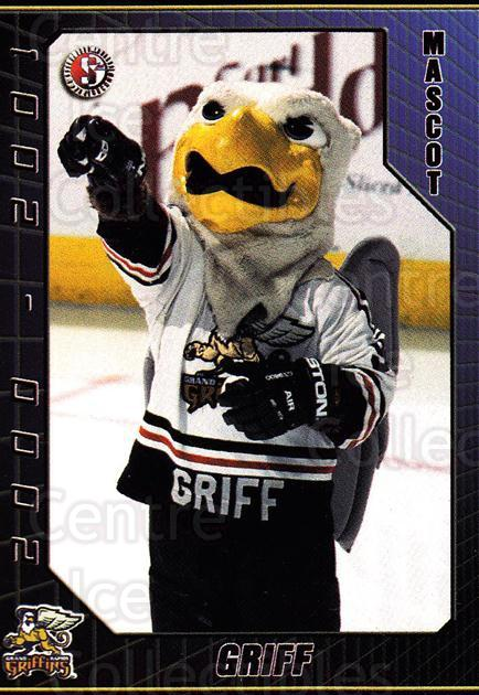 2000-01 Grand Rapids Griffins #25 Mascot<br/>6 In Stock - $3.00 each - <a href=https://centericecollectibles.foxycart.com/cart?name=2000-01%20Grand%20Rapids%20Griffins%20%2325%20Mascot...&quantity_max=6&price=$3.00&code=85455 class=foxycart> Buy it now! </a>