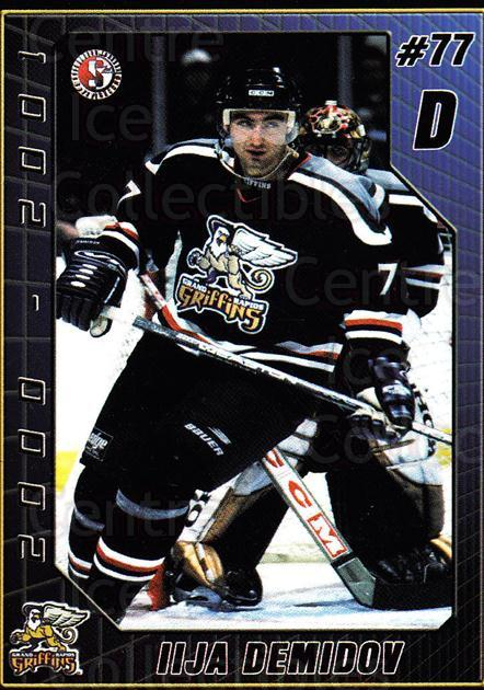 2000-01 Grand Rapids Griffins #6 Ilya Demidov<br/>5 In Stock - $3.00 each - <a href=https://centericecollectibles.foxycart.com/cart?name=2000-01%20Grand%20Rapids%20Griffins%20%236%20Ilya%20Demidov...&price=$3.00&code=85459 class=foxycart> Buy it now! </a>