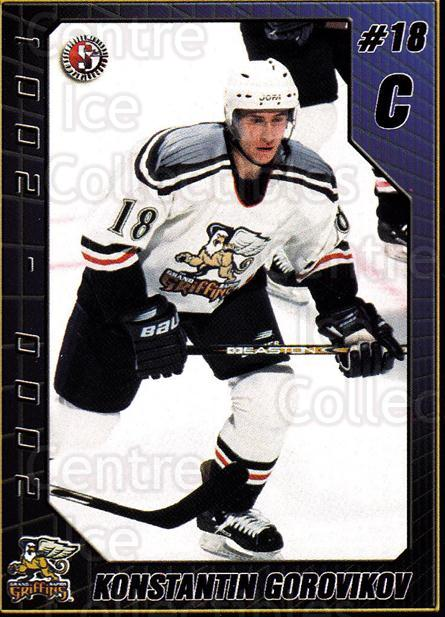 2000-01 Grand Rapids Griffins #9 Konstantin Gorovikov<br/>3 In Stock - $3.00 each - <a href=https://centericecollectibles.foxycart.com/cart?name=2000-01%20Grand%20Rapids%20Griffins%20%239%20Konstantin%20Goro...&price=$3.00&code=85462 class=foxycart> Buy it now! </a>