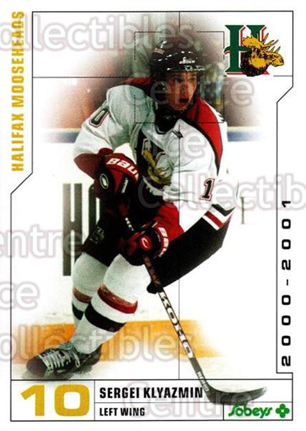 2000-01 Halifax Mooseheads #10 Sergei Klyazmin<br/>2 In Stock - $3.00 each - <a href=https://centericecollectibles.foxycart.com/cart?name=2000-01%20Halifax%20Mooseheads%20%2310%20Sergei%20Klyazmin...&quantity_max=2&price=$3.00&code=85464 class=foxycart> Buy it now! </a>