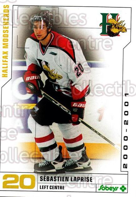 2000-01 Halifax Mooseheads #11 Sebastien Laprise<br/>7 In Stock - $3.00 each - <a href=https://centericecollectibles.foxycart.com/cart?name=2000-01%20Halifax%20Mooseheads%20%2311%20Sebastien%20Lapri...&quantity_max=7&price=$3.00&code=85465 class=foxycart> Buy it now! </a>
