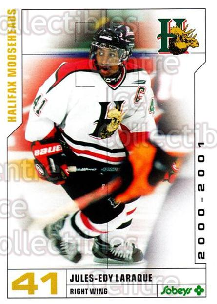 2000-01 Halifax Mooseheads #12 Jules-Edy Laraque<br/>8 In Stock - $3.00 each - <a href=https://centericecollectibles.foxycart.com/cart?name=2000-01%20Halifax%20Mooseheads%20%2312%20Jules-Edy%20Laraq...&quantity_max=8&price=$3.00&code=85466 class=foxycart> Buy it now! </a>