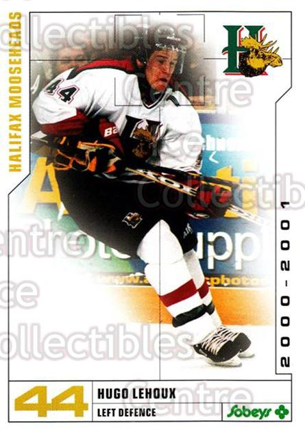 2000-01 Halifax Mooseheads #14 Hugo Lehoux<br/>6 In Stock - $3.00 each - <a href=https://centericecollectibles.foxycart.com/cart?name=2000-01%20Halifax%20Mooseheads%20%2314%20Hugo%20Lehoux...&quantity_max=6&price=$3.00&code=85467 class=foxycart> Buy it now! </a>