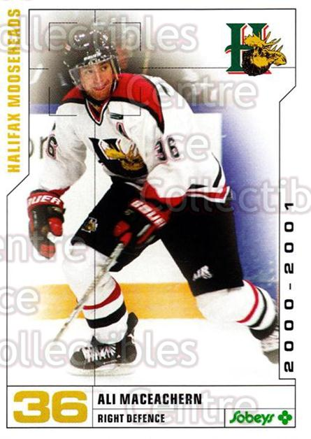 2000-01 Halifax Mooseheads #15 Ali MacEachern<br/>7 In Stock - $3.00 each - <a href=https://centericecollectibles.foxycart.com/cart?name=2000-01%20Halifax%20Mooseheads%20%2315%20Ali%20MacEachern...&quantity_max=7&price=$3.00&code=85468 class=foxycart> Buy it now! </a>