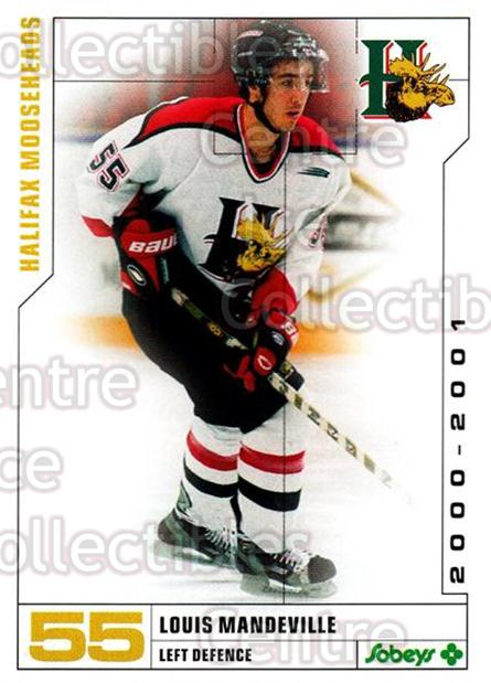 2000-01 Halifax Mooseheads #18 Louis Mandeville<br/>8 In Stock - $3.00 each - <a href=https://centericecollectibles.foxycart.com/cart?name=2000-01%20Halifax%20Mooseheads%20%2318%20Louis%20Mandevill...&quantity_max=8&price=$3.00&code=85471 class=foxycart> Buy it now! </a>