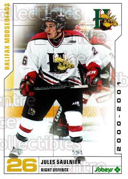2000-01 Halifax Mooseheads #20 Jules Saulnier<br/>8 In Stock - $3.00 each - <a href=https://centericecollectibles.foxycart.com/cart?name=2000-01%20Halifax%20Mooseheads%20%2320%20Jules%20Saulnier...&quantity_max=8&price=$3.00&code=85474 class=foxycart> Buy it now! </a>