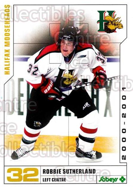 2000-01 Halifax Mooseheads #22 Robbie Sutherland<br/>4 In Stock - $3.00 each - <a href=https://centericecollectibles.foxycart.com/cart?name=2000-01%20Halifax%20Mooseheads%20%2322%20Robbie%20Sutherla...&quantity_max=4&price=$3.00&code=85475 class=foxycart> Buy it now! </a>