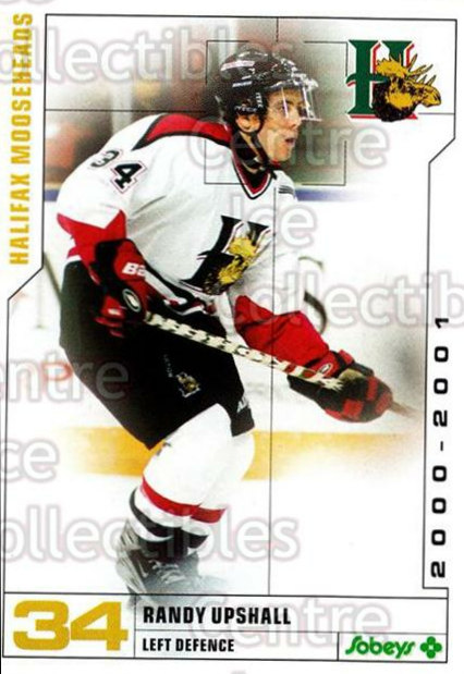 2000-01 Halifax Mooseheads #23 Randy Upshall<br/>8 In Stock - $3.00 each - <a href=https://centericecollectibles.foxycart.com/cart?name=2000-01%20Halifax%20Mooseheads%20%2323%20Randy%20Upshall...&quantity_max=8&price=$3.00&code=85476 class=foxycart> Buy it now! </a>