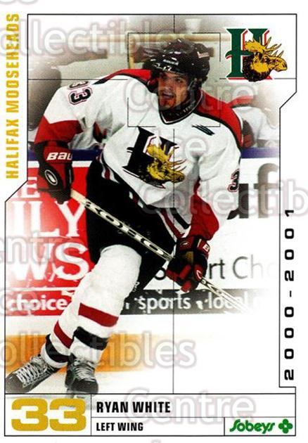 2000-01 Halifax Mooseheads #24 Ryan White<br/>6 In Stock - $3.00 each - <a href=https://centericecollectibles.foxycart.com/cart?name=2000-01%20Halifax%20Mooseheads%20%2324%20Ryan%20White...&quantity_max=6&price=$3.00&code=85477 class=foxycart> Buy it now! </a>