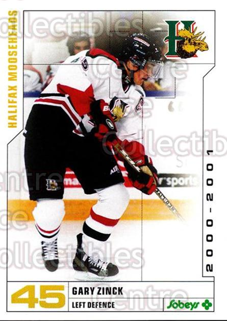 2000-01 Halifax Mooseheads #25 Gary Zinck<br/>8 In Stock - $3.00 each - <a href=https://centericecollectibles.foxycart.com/cart?name=2000-01%20Halifax%20Mooseheads%20%2325%20Gary%20Zinck...&quantity_max=8&price=$3.00&code=85478 class=foxycart> Buy it now! </a>