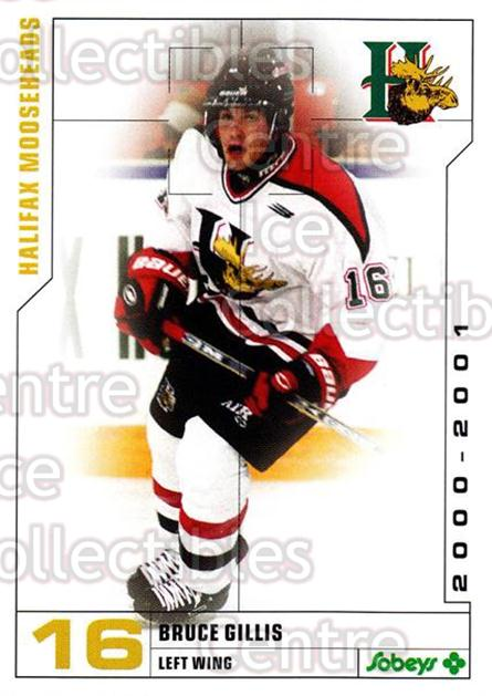 2000-01 Halifax Mooseheads #5 Bruce Gillis<br/>8 In Stock - $3.00 each - <a href=https://centericecollectibles.foxycart.com/cart?name=2000-01%20Halifax%20Mooseheads%20%235%20Bruce%20Gillis...&quantity_max=8&price=$3.00&code=85482 class=foxycart> Buy it now! </a>