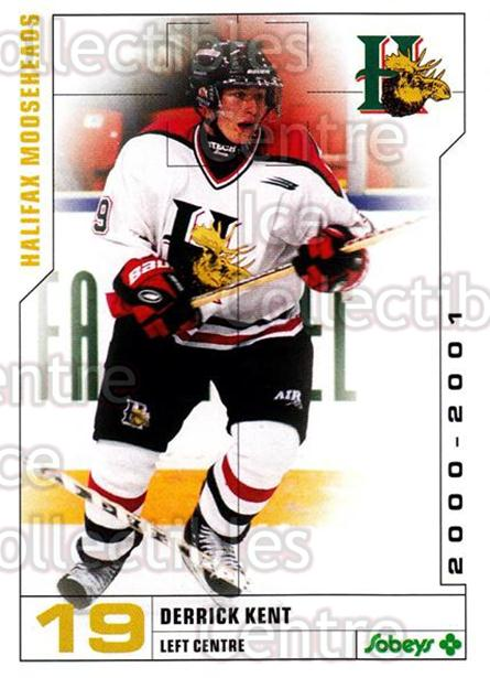 2000-01 Halifax Mooseheads #8 Derrick Kent<br/>7 In Stock - $3.00 each - <a href=https://centericecollectibles.foxycart.com/cart?name=2000-01%20Halifax%20Mooseheads%20%238%20Derrick%20Kent...&quantity_max=7&price=$3.00&code=85485 class=foxycart> Buy it now! </a>