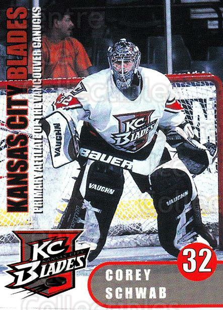 2000-01 Kansas City Blades #21 Corey Schwab<br/>4 In Stock - $3.00 each - <a href=https://centericecollectibles.foxycart.com/cart?name=2000-01%20Kansas%20City%20Blades%20%2321%20Corey%20Schwab...&quantity_max=4&price=$3.00&code=85570 class=foxycart> Buy it now! </a>