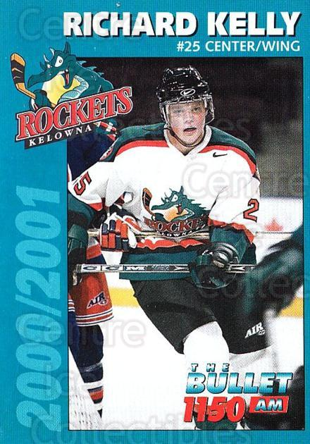 2000-01 Kelowna Rockets #10 Richard Kelly<br/>4 In Stock - $3.00 each - <a href=https://centericecollectibles.foxycart.com/cart?name=2000-01%20Kelowna%20Rockets%20%2310%20Richard%20Kelly...&price=$3.00&code=85597 class=foxycart> Buy it now! </a>