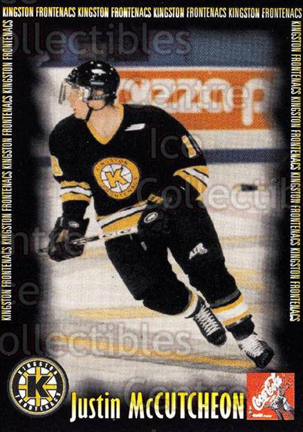 2000-01 Kingston Frontenacs #11 Justin McCutcheon<br/>7 In Stock - $3.00 each - <a href=https://centericecollectibles.foxycart.com/cart?name=2000-01%20Kingston%20Frontenacs%20%2311%20Justin%20McCutche...&price=$3.00&code=85608 class=foxycart> Buy it now! </a>