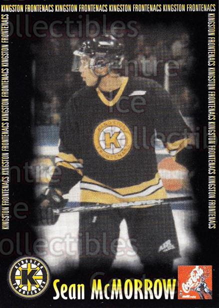 2000-01 Kingston Frontenacs #12 Sean McMorrow<br/>3 In Stock - $3.00 each - <a href=https://centericecollectibles.foxycart.com/cart?name=2000-01%20Kingston%20Frontenacs%20%2312%20Sean%20McMorrow...&price=$3.00&code=85609 class=foxycart> Buy it now! </a>