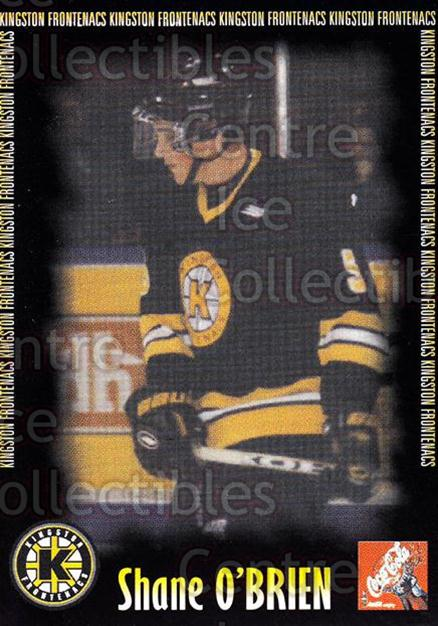 2000-01 Kingston Frontenacs #13 Shane O'Brien<br/>3 In Stock - $3.00 each - <a href=https://centericecollectibles.foxycart.com/cart?name=2000-01%20Kingston%20Frontenacs%20%2313%20Shane%20O'Brien...&price=$3.00&code=85610 class=foxycart> Buy it now! </a>