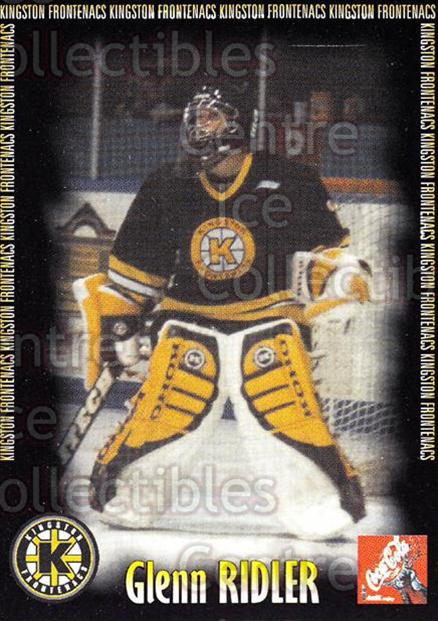2000-01 Kingston Frontenacs #14 Glenn Ridler<br/>5 In Stock - $3.00 each - <a href=https://centericecollectibles.foxycart.com/cart?name=2000-01%20Kingston%20Frontenacs%20%2314%20Glenn%20Ridler...&price=$3.00&code=85611 class=foxycart> Buy it now! </a>
