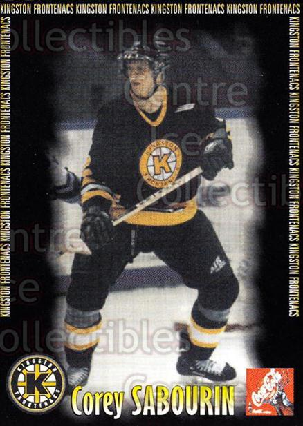 2000-01 Kingston Frontenacs #15 Corey Sabourin<br/>6 In Stock - $3.00 each - <a href=https://centericecollectibles.foxycart.com/cart?name=2000-01%20Kingston%20Frontenacs%20%2315%20Corey%20Sabourin...&price=$3.00&code=85612 class=foxycart> Buy it now! </a>