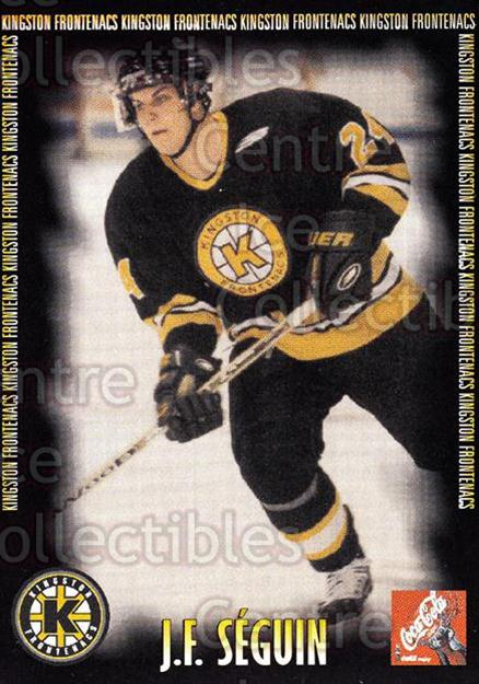 2000-01 Kingston Frontenacs #16 JF Seguin<br/>7 In Stock - $3.00 each - <a href=https://centericecollectibles.foxycart.com/cart?name=2000-01%20Kingston%20Frontenacs%20%2316%20JF%20Seguin...&price=$3.00&code=85613 class=foxycart> Buy it now! </a>